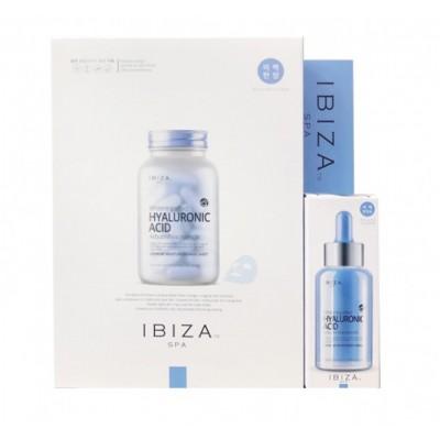 Увлажняющий набор, сыворотка + 10 масок IBIZA SPA Set Hyaluronic Acid Mask Sheet and Ampoule Serum