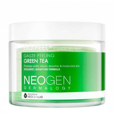 Трёхслойные пилинговые диски с экстрактом зелёного чая Neogen Dermalogy Bio Peel Gauze Peeling - Green Tea