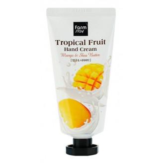 Крем для рук с манго и маслом ши Tropical Fruit Hand Cream Shea Butter and Mango 50мл