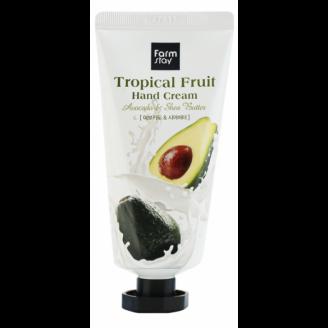 Крем для рук с авокадо и маслом ши FarmStay Tropical Fruit Hand Cream Avocado Shea Butter 50мл