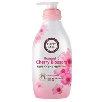 Гель для душа с ароматом цветка вишни Happy Bath 900мл