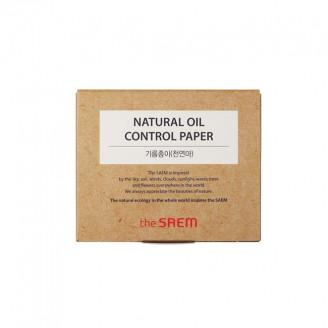 Матирующие салфетки для лица The Saem Natural Oil Control Paper 50шт