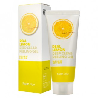 Пилинг-скатка с лимоном  FarmStay Real Lemon Deep Clear Peeling Gel 100мл