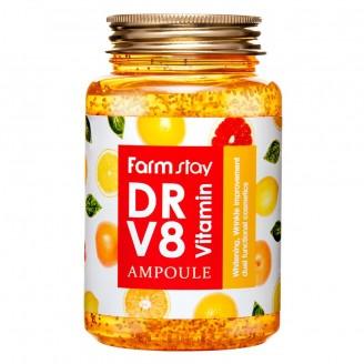 Ампульная сыворотка с витаминами Dr-V8 Vitamin Ampoule FarmStay, 250 мл