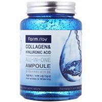 Farmstay All-In-One Collagen Hyaluronic Acid Ampoule Сыворотка для лица с гиалуроновой кислотой и коллагеном