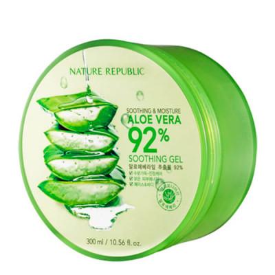 Увлажняющий многофункциональный гель с 92% экстрактом сока алоэ 300 мл