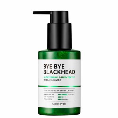 Маска-пенка от чёрных точек BYE BYE BLACKHEAD 30 Days Miracle Green TeaTox Bubble Cleanser 120г