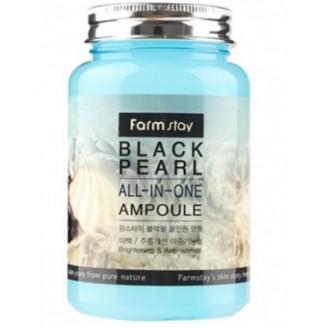 Многофункциональная ампульная сыворотка для ухода за кожей лица с экстрактом жемчуг FarmStay Black Pearl All-In One Ampoule 250ml