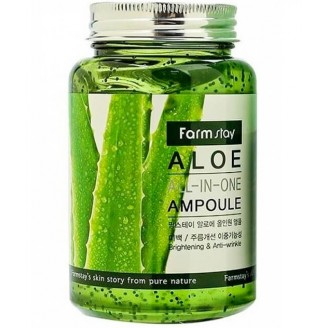 Farmstay All-In-One Aloe Ampoule Сыворотка для лица с экстрактом алоэ