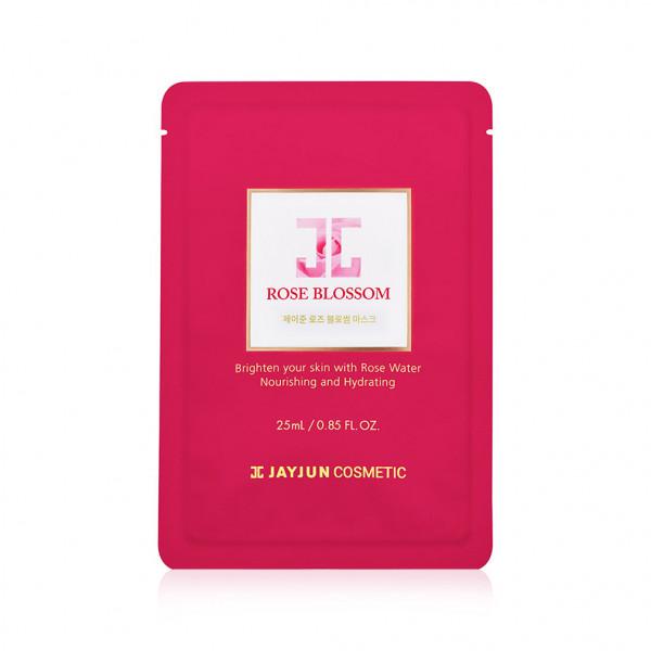 Целлюлозная тканевая маска с розовой водой Rose Blossom Mask