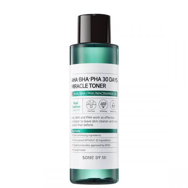 Кислотный очищающий тонер для проблемной кожи AHA-BHA-PHA 30 Days Miracle Toner