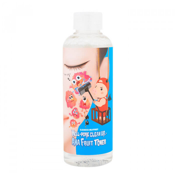 Пилинг-тонер для лица с фруктовыми кислотами Hell-Pore Clean Up AHA Fruit Toner